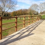 3 rail post and rail on creosote for yard